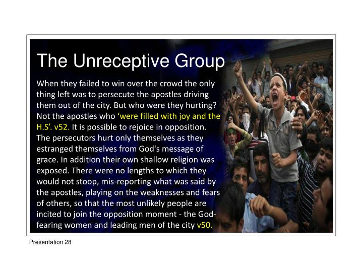The Unreceptive Group