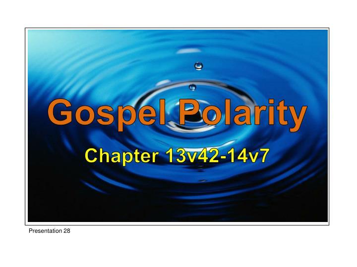 Gospel Polarity