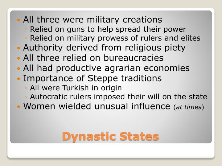 Dynastic states
