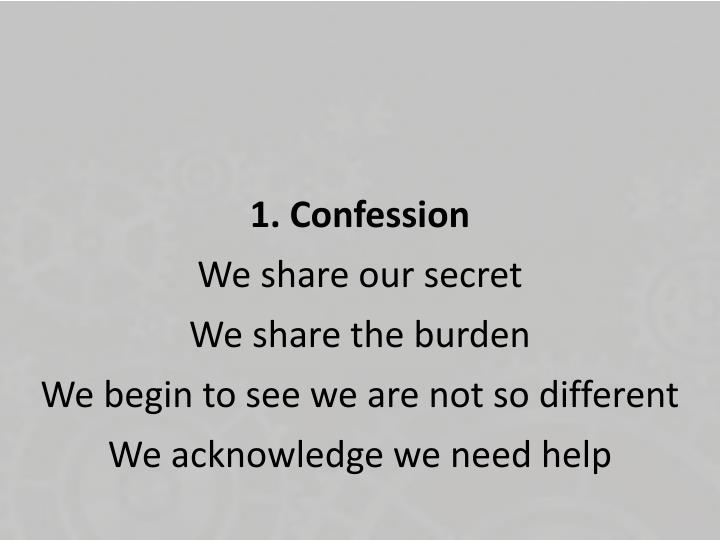 1. Confession