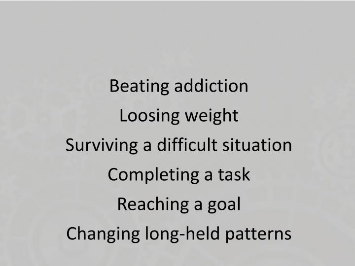 Beating addiction