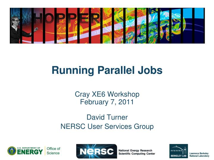 Running parallel jobs