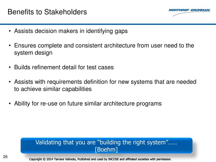 Benefits to Stakeholders