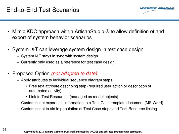 End-to-End Test Scenarios