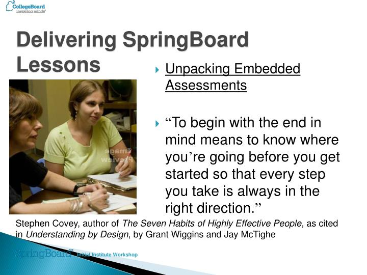 Delivering SpringBoard Lessons
