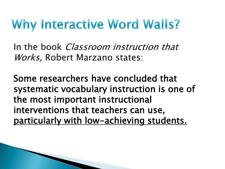 Why Interactive Word Walls?