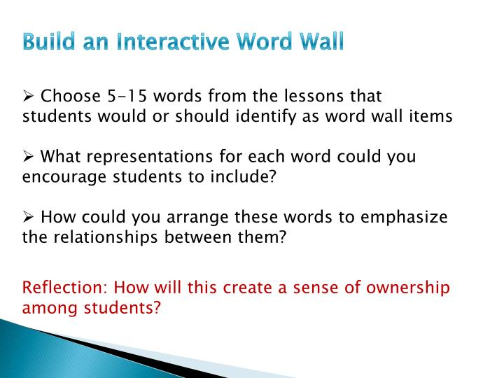 Build an Interactive Word Wall