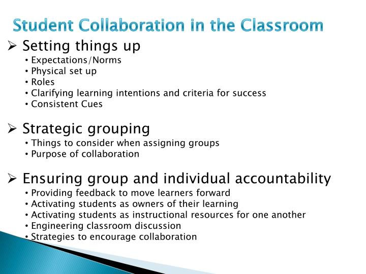Student Collaboration in the Classroom