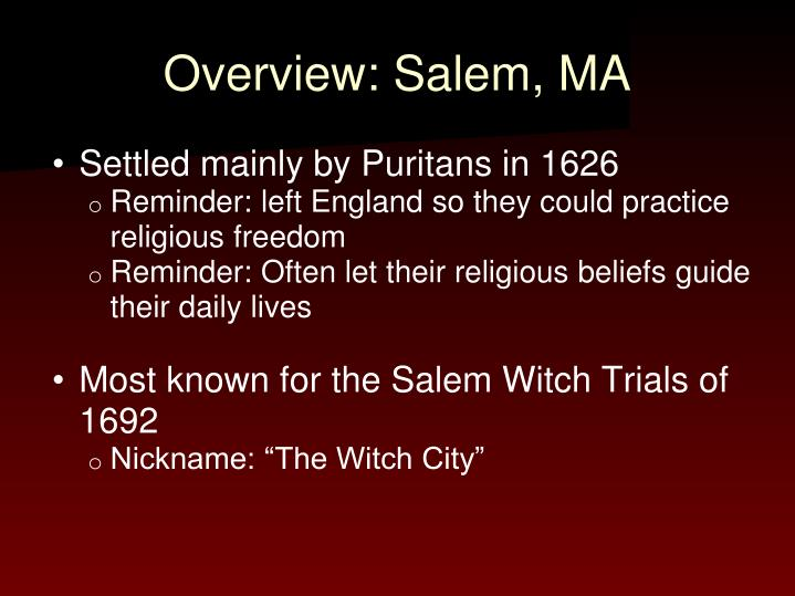 Overview: Salem, MA