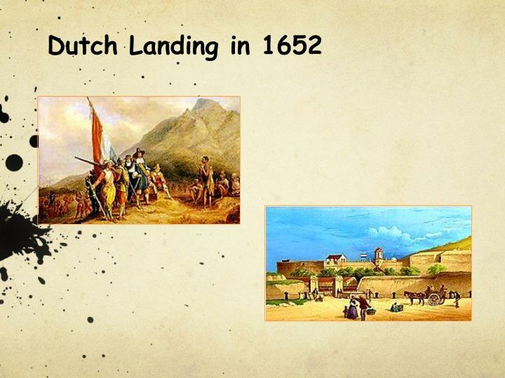 Dutch Landing in 1652