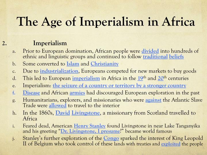 age of imperialism