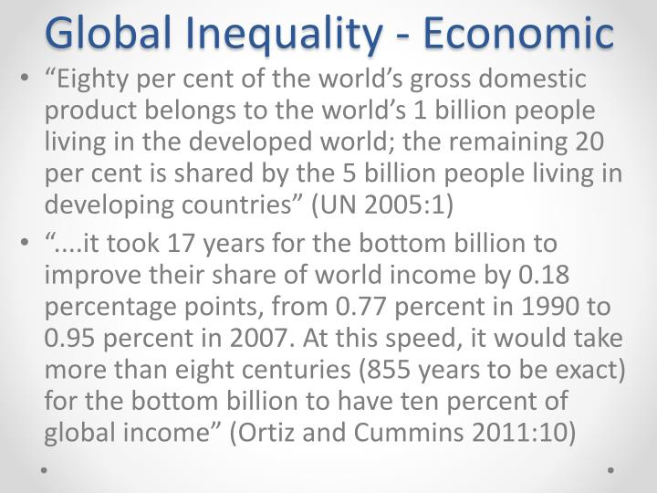 Global Inequality - Economic