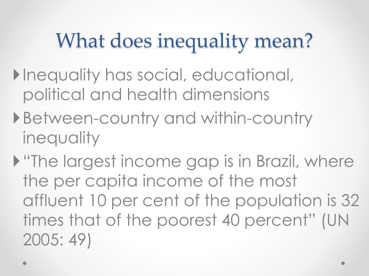What does inequality mean