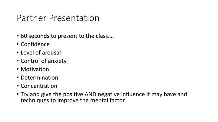 Partner Presentation