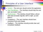 principles of a user interface