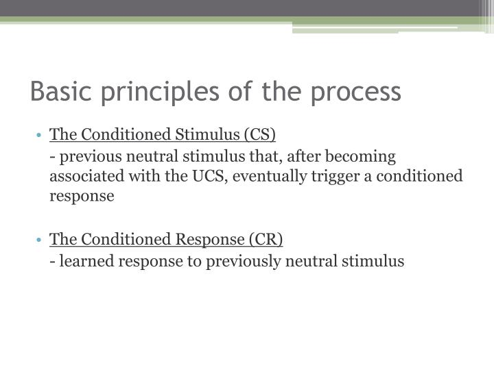 Basic principles of the process