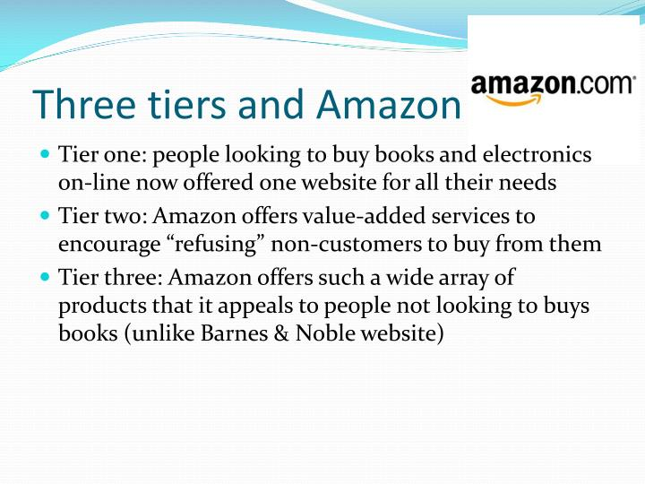 Three tiers and Amazon