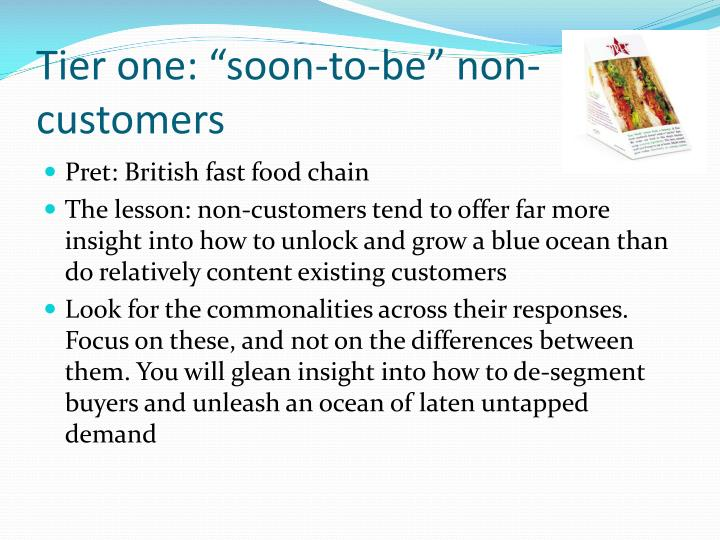 "Tier one: ""soon-to-be"" non-customers"