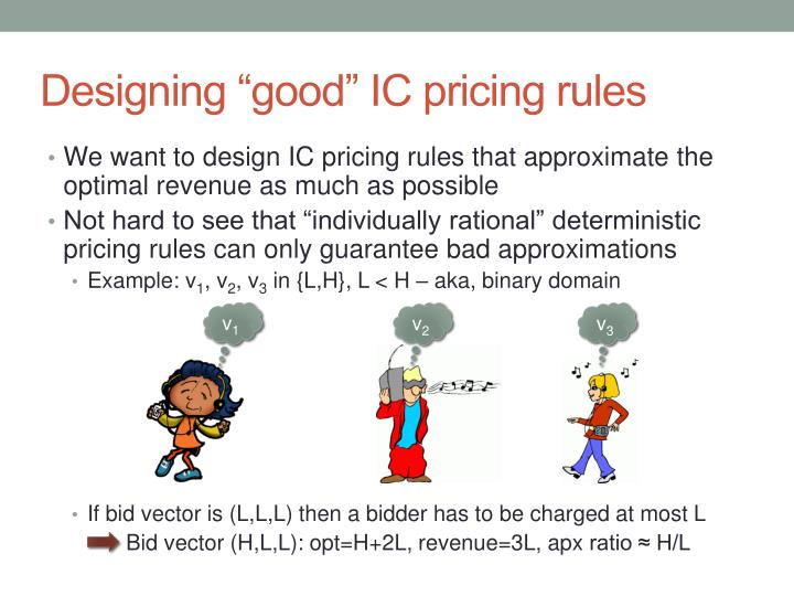"Designing ""good"" IC pricing rules"