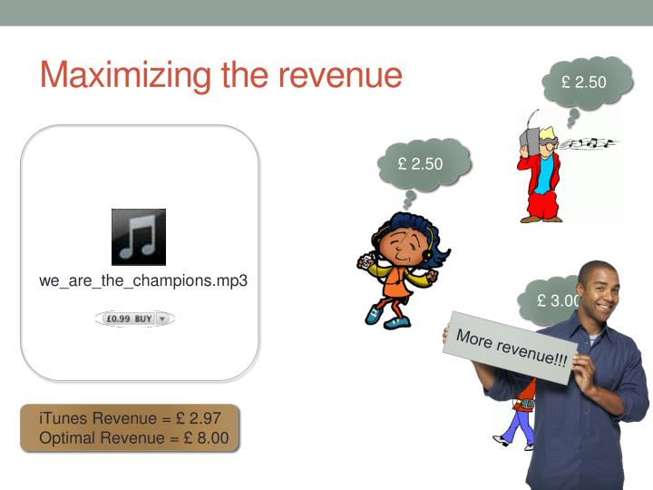 Maximizing the revenue