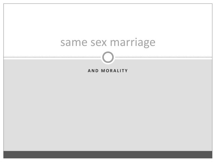 same sex marriage