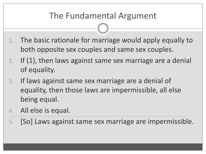 The fundamental argument