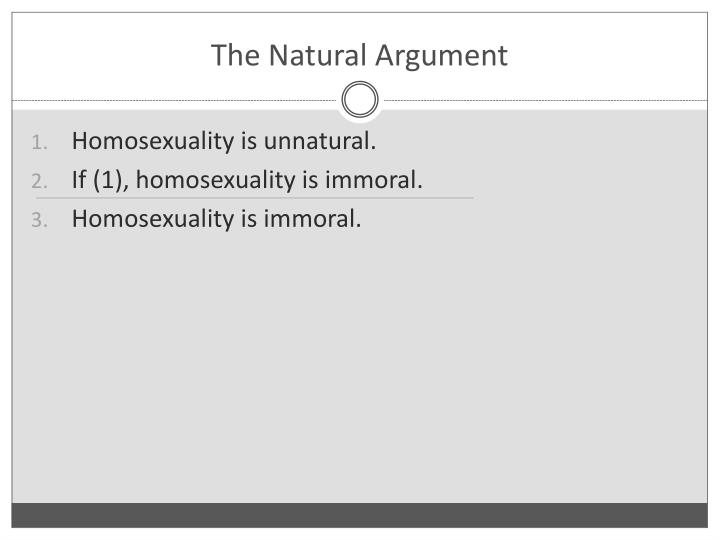 The natural argument