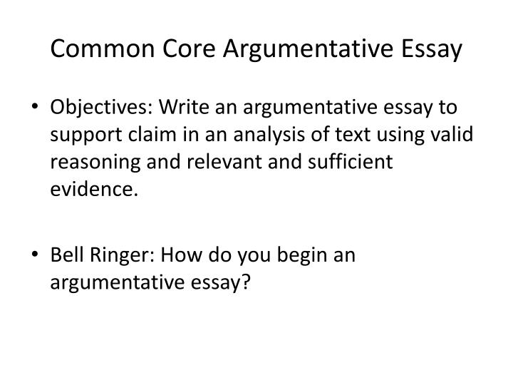persuasive essay on common core