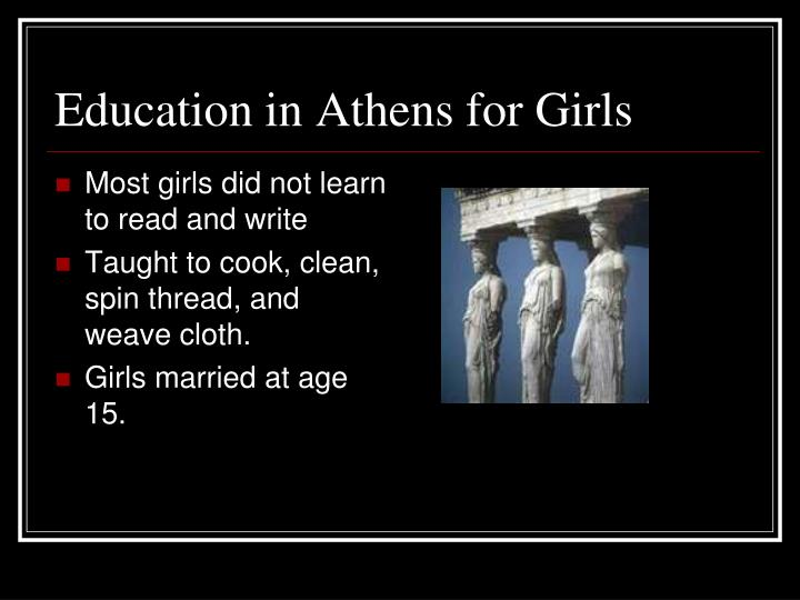 Education in Athens for Girls
