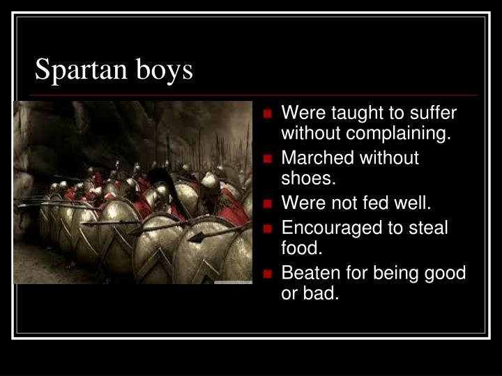 Spartan boys