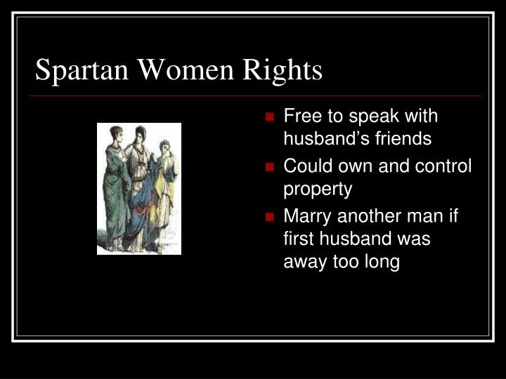 Spartan Women Rights