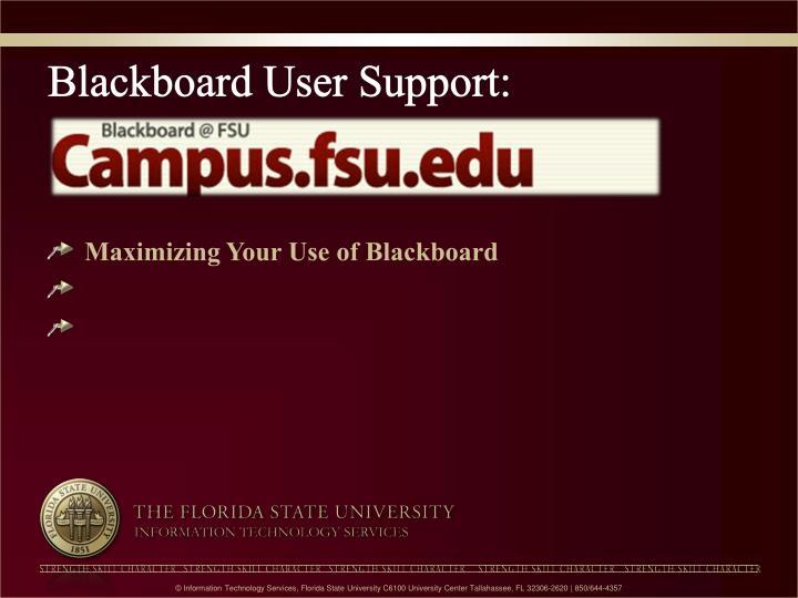 Blackboard User Support: