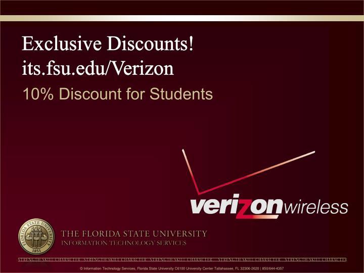 Exclusive Discounts!