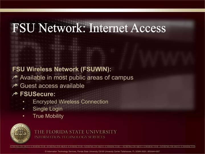 FSU Network: Internet Access