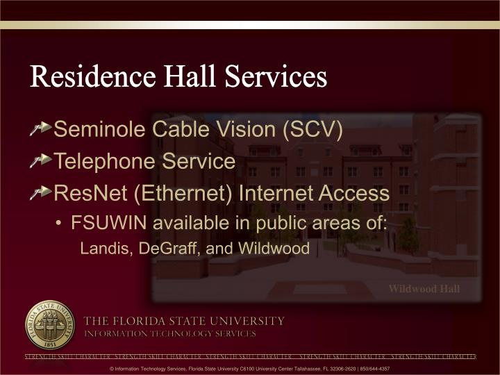 Residence Hall Services