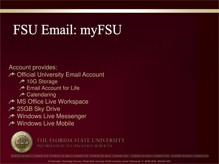 FSU Email: