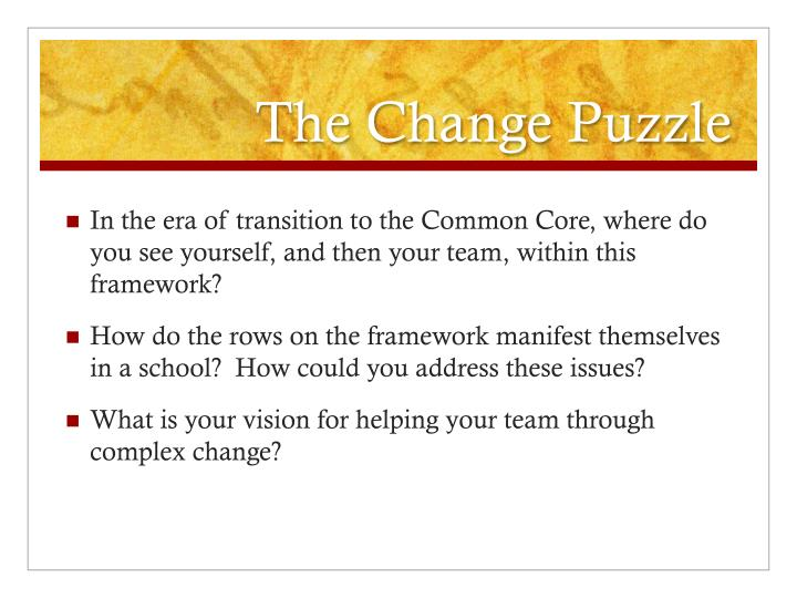 The Change Puzzle