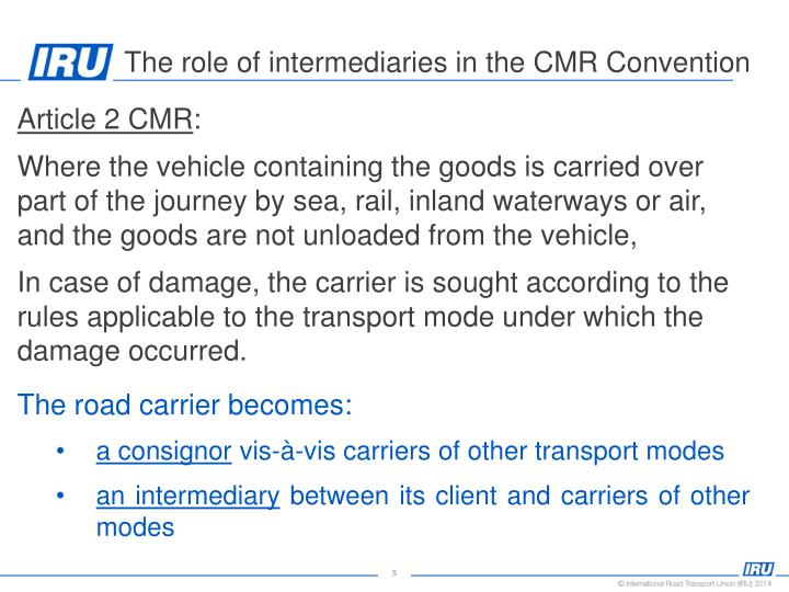 Article 2 CMR