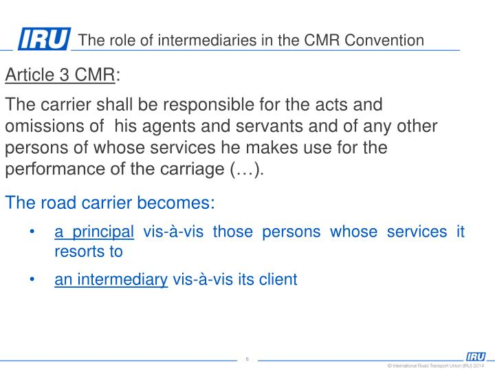 Article 3 CMR