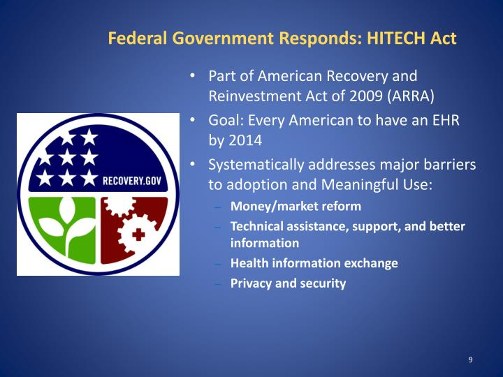 Federal Government Responds: HITECH Act