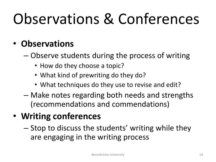 Observations & Conferences