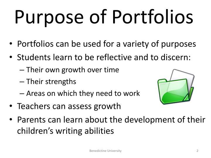 Purpose of Portfolios