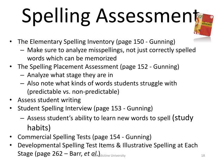 Spelling Assessment
