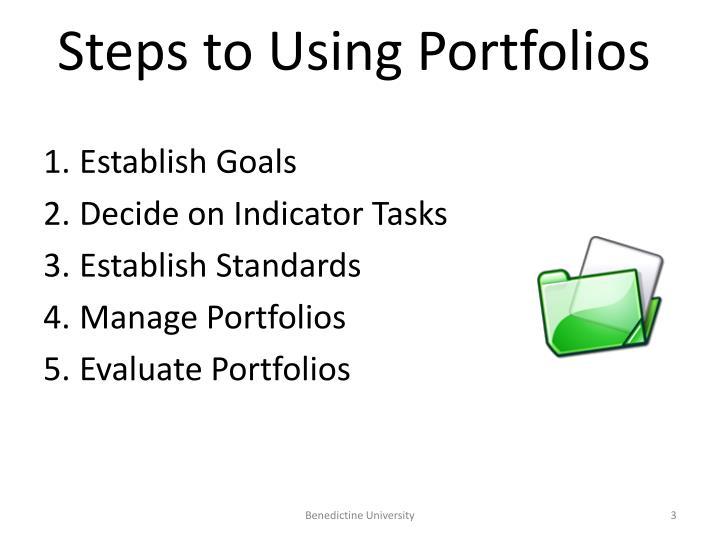 Steps to Using Portfolios