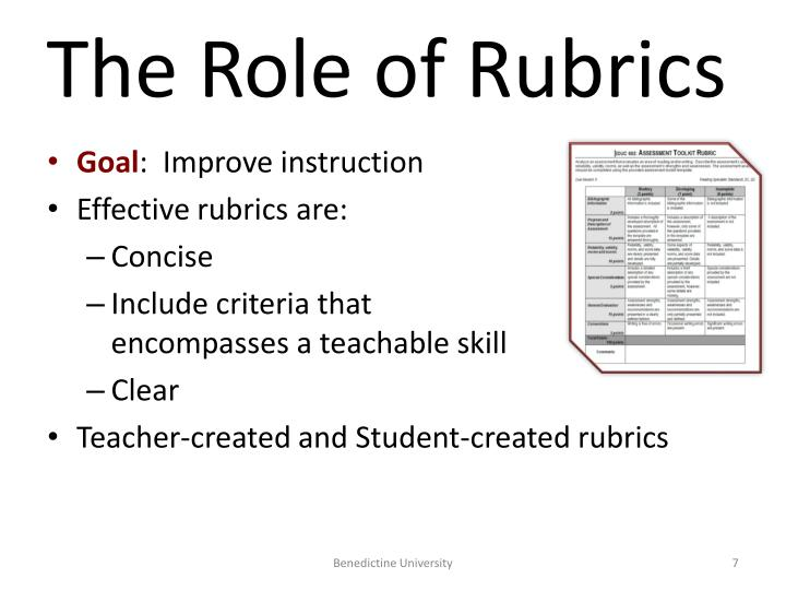 The Role of Rubrics