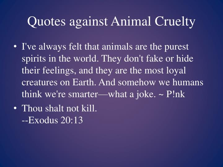 Quotes against Animal Cruelty