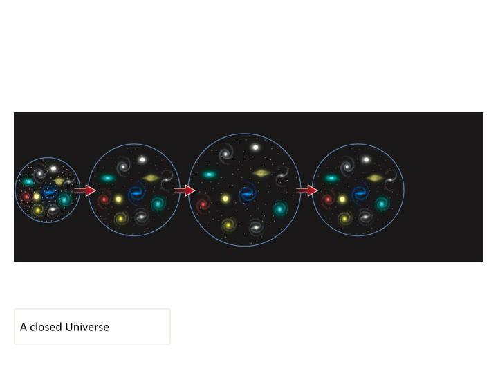 A closed Universe