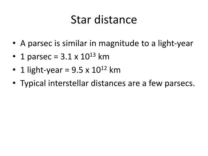 Star distance