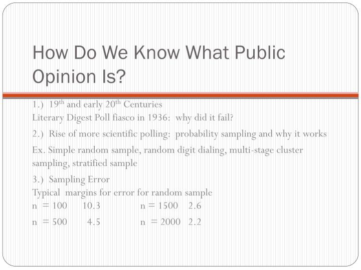 How Do We Know What Public Opinion Is?