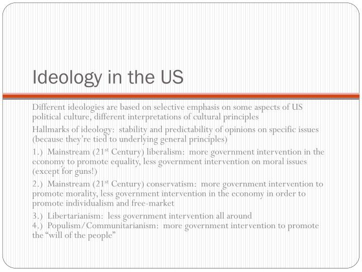 Ideology in the US